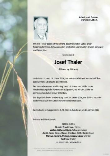 OR Josef Thaler