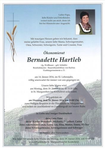 Ökonomierat Bernadette Hartleb