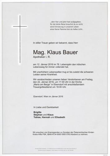 Mag. Klaus Bauer