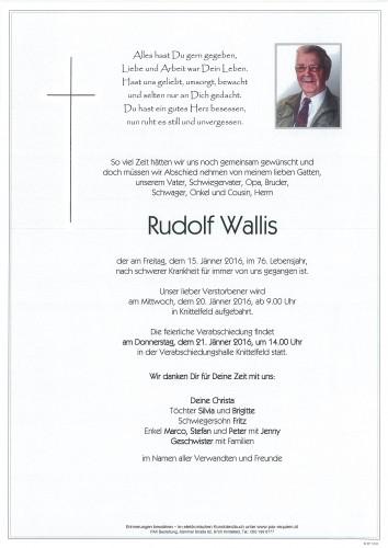 Rudolf Wallis
