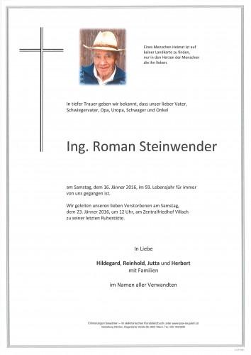 Ing. Roman Steinwender