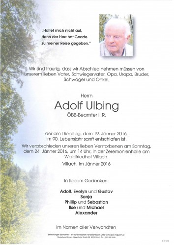 Adolf Ulbing