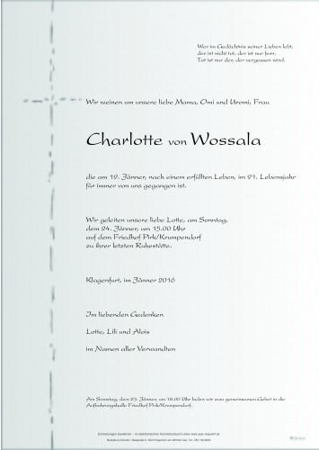 Charlotte von Wossala