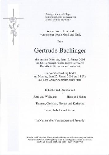 Gertrude Bachinger