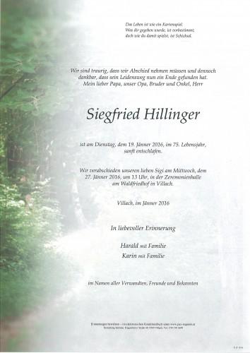 Siegfried Hillinger