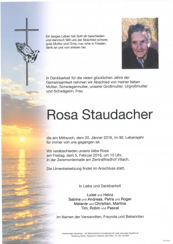 Rosa Staudacher