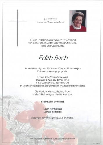Edith Bach