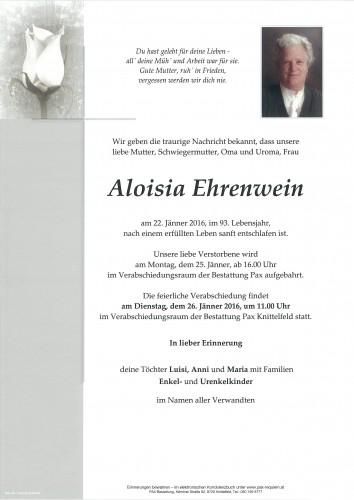 Aloisia Ehrenwein