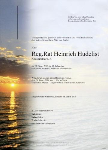 Reg.Rat Heinrich Hudelist