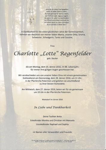 """Charlotte """"Lotte"""" Regenfelder, geb. Rauter"""