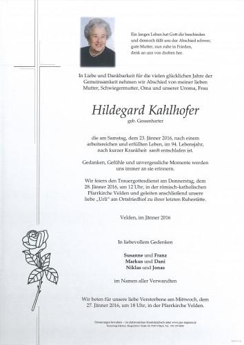 Hildegard Kahlhofer