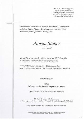 Aloisia Staber