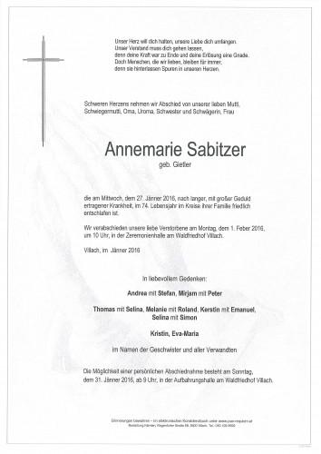 Annemarie Sabitzer