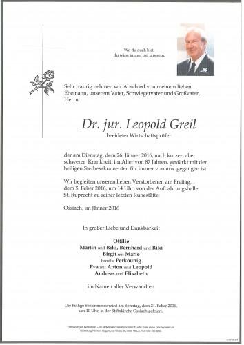 Dr. jur. Leopold Greil