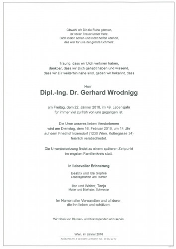 Dipl.-Ing.Dr.Gerhard Wrodnigg