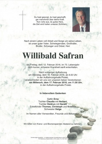 Willibald Safran