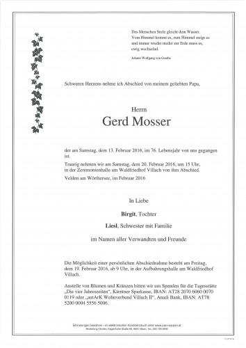 Gerd Mosser