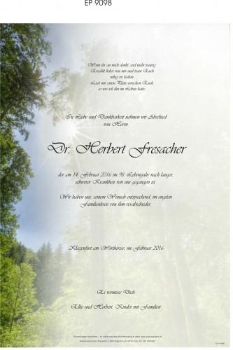 Dr. Herbert Fresacher
