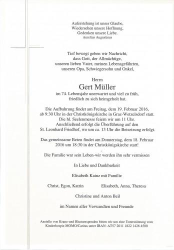 Gert Müller