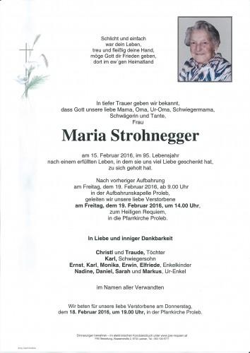 Maria Strohnegger