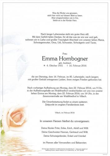 Emma Hornbogner