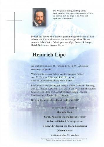 Heinrich Lipe