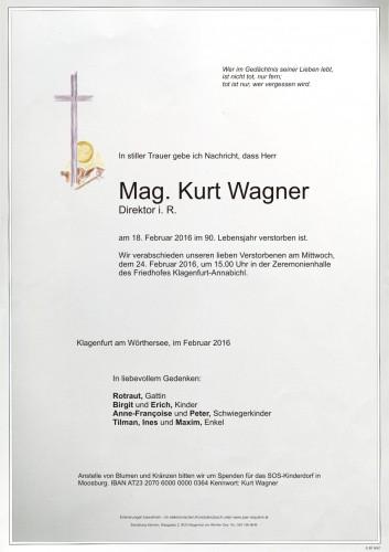 Mag. Kurt Wagner