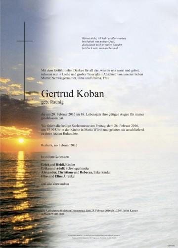 Gertrud Koban