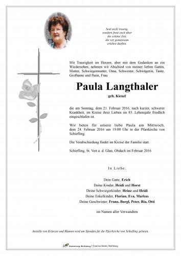 Paula Langthaler