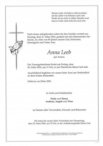 Anna Leeb geb. Kristan