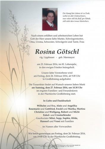 Rosina Götschl, vlg. Lippbauer