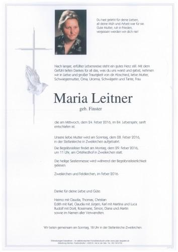 Maria Leitner geb. Finster