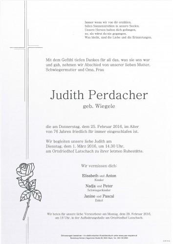 Judith Perdacher