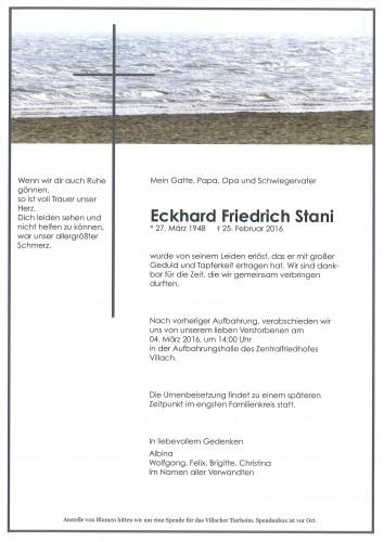 Eckhard Friedrich Stani