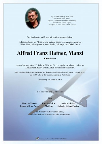 "Alfred Franz Hafner ""Manzi"""