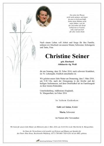 Christine Seiner