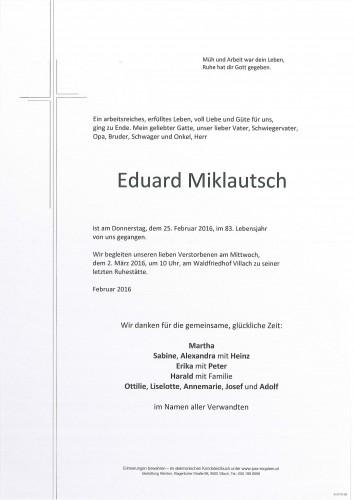 Eduard Miklautsch
