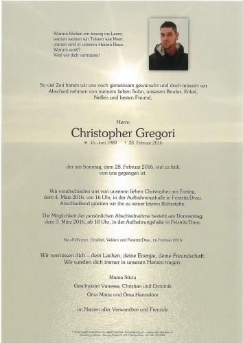 Christopher Gregori