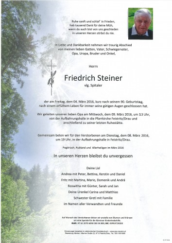 Friedrich Steiner vlg. Spitaler