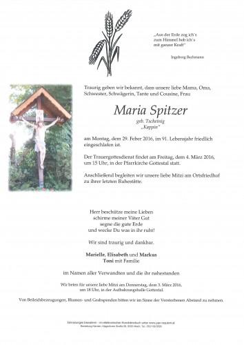 """Maria Spitzer geb. Tscheinig  """"Kappin"""""""