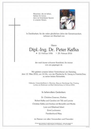 Dipl.-Ing. Dr. Peter Kafka