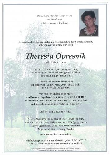 Theresia Opresnik