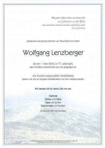 Wolfgang Lenzberger
