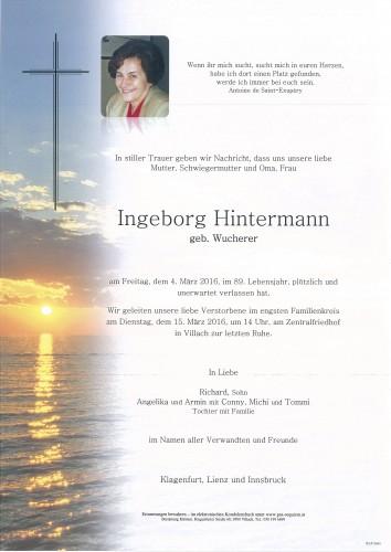 Ingeborg Hintermann