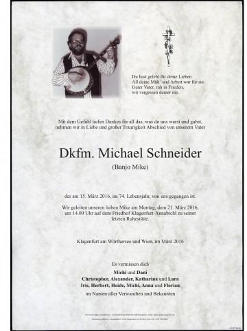 Dkfm. Michael Schneider