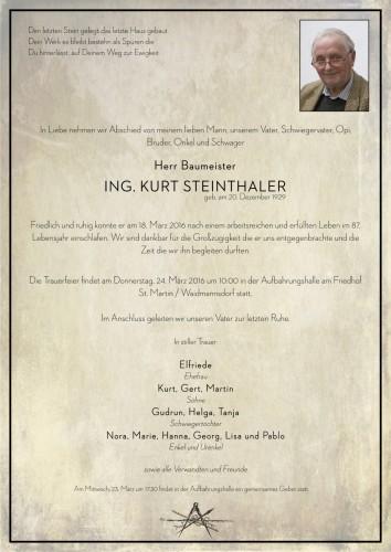 Ing. Kurt Steinthaler