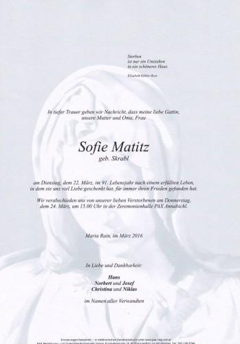 Sofie Matitz