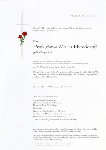 Prof. Anna Maria Fheodoroff