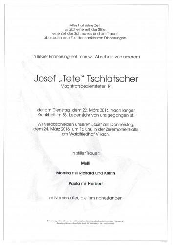 Josef Tschlatscher