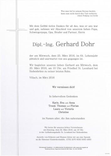 Dipl.-Ing. Gerhard Dohr